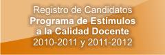Registro_de Candidatos Programa Estímulos a la Calidad Docente 2012-2011 y 2011-2012